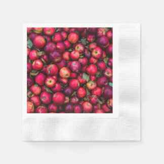 Red Apples Fruit pattern Paper Napkin
