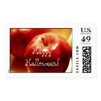Red Apples Happy Halloween Postage