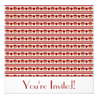 Red Apples Invitation
