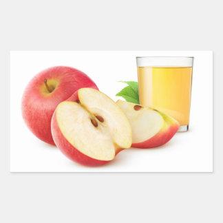 Red apples juice rectangular sticker