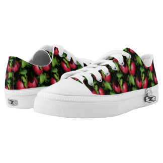 Red Apples On Tree Nature Pattern Low-Top Sneakers
