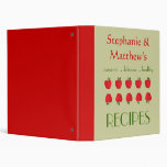 Red Apples Pattern Cookbook and Recipe Binder Vinyl Binders