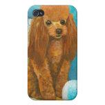 Red Apricot Poodle Portrait iPhone 4 Case