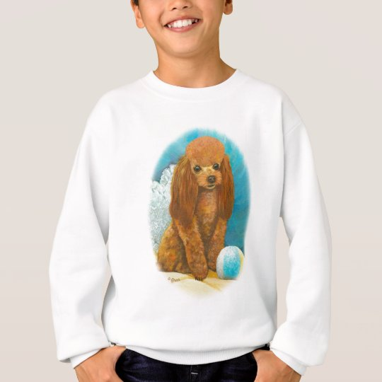 Red Apricot Poodle with Ball Sweatshirt