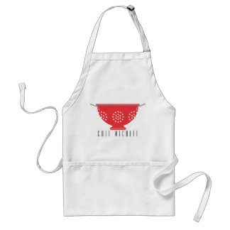 Red Apron with colander Personalized