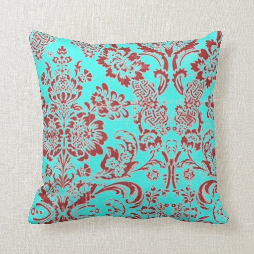 Teal And Red Decorative Pillows : Teal And Red Throw Pillows