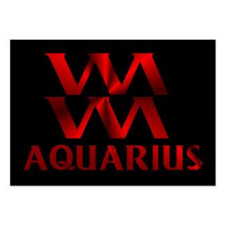 Red Aquarius Horoscope Symbol Large Business Cards (Pack Of 100)