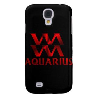 Red Aquarius Horoscope Symbol Galaxy S4 Cover