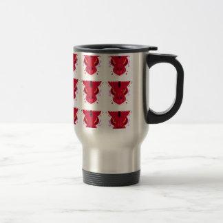 RED Arabic ornaments Travel Mug