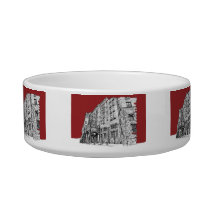 Red architectural ink bowl
