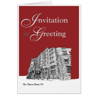 Red architectural ink cards