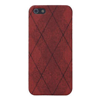 Red Arglye Case for iPhone 4