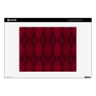 """Red Argyle 12"""" Laptop Skin"""