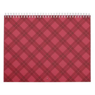 Red Argyle Wall Calendars