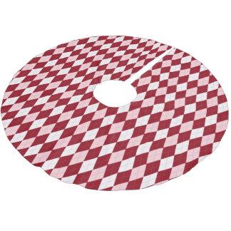 Red Argyle Crimson Pink Small Diamond Shape Brushed Polyester Tree Skirt