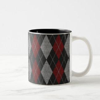Red Argyle Fashion Coffee Mug