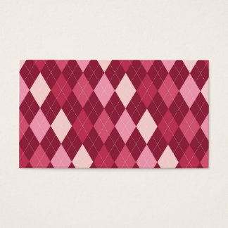 Red argyle pattern business card