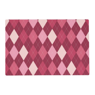 Red argyle pattern placemat