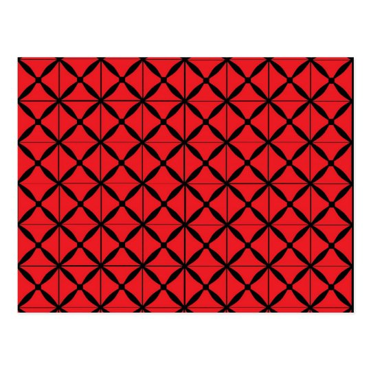 Red Argyle Postcard