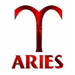 Red Aries Horoscope Symbol Acrylic Cut Outs
