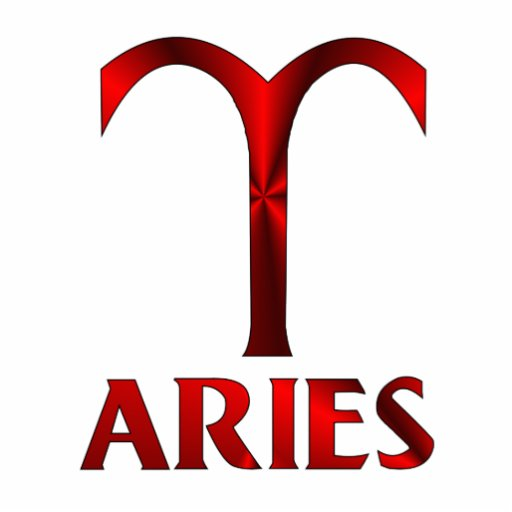 Red Aries Horoscope Symbol Acrylic Cut Outs Zazzle