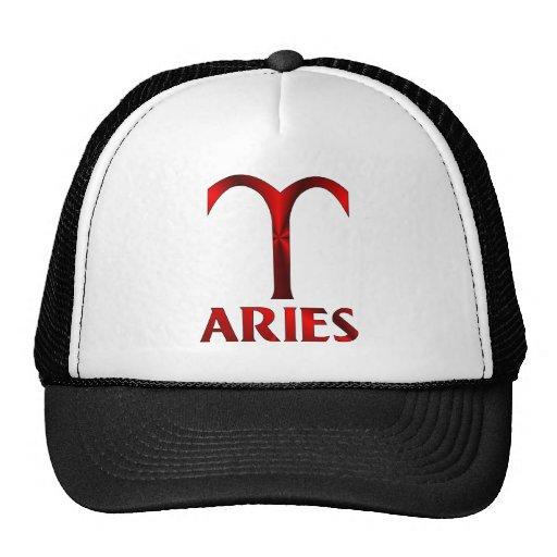 Red Aries Horoscope Symbol Hat