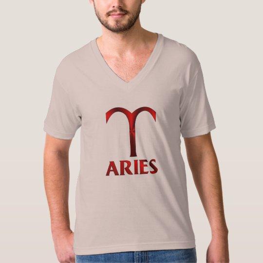 Red Aries Horoscope Symbol T-Shirt
