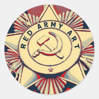 RED ARMY ART CLASSIC ROUND STICKER