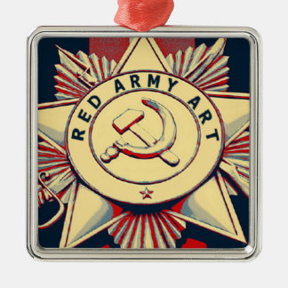 RED ARMY ART METAL ORNAMENT