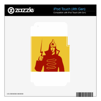 Red Army Soldier Decal For iPod Touch 4G