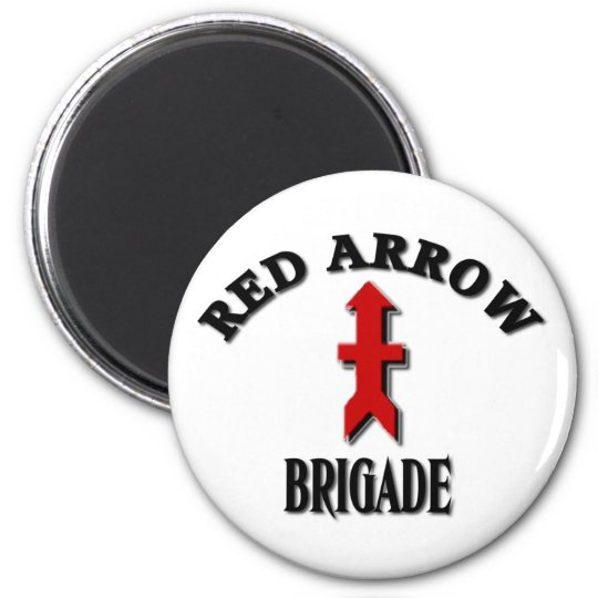 Red Arrow Brigade Military 32nd Infantry Magnet