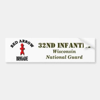 Red Arrow Brigade Military Car Bumper Sticker