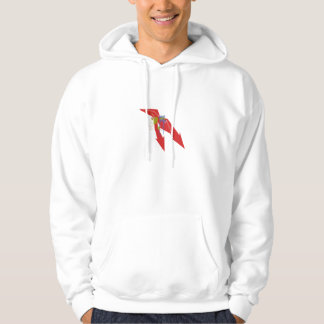 Red arrow hooded sweatshirt