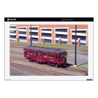 """Red Arrow Lines Brill Car #76 17"""" Laptop Decal"""
