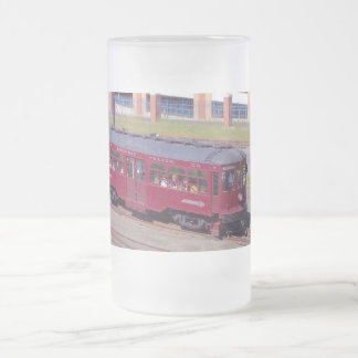 Red Arrow Lines Brill Car #76 Frosted Beer Mug
