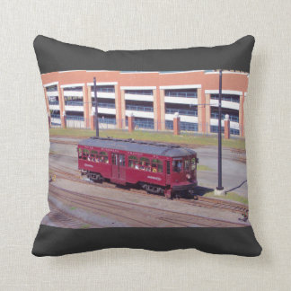 Red Arrow Lines Brill Car #76 Throw Pillow