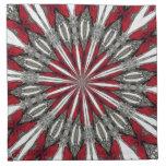 Red Arrow Medallion Cloth Napkins