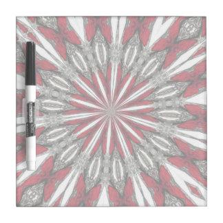 Red Arrow Medallion Small Square Dry Erase Board