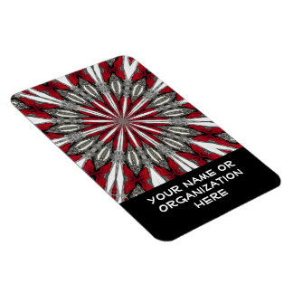 Red Arrow Medallion Text Magnet