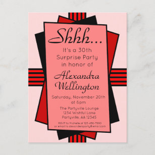 For Her 30th Birthday Invitations | Zazzle