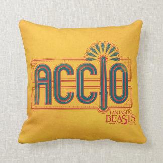 Red Art Deco Accio Spell Graphic Throw Pillow