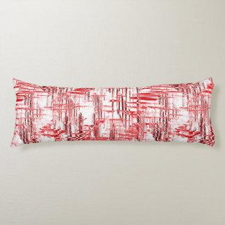 Red Art Deco Body Pillow