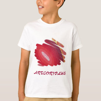Red Art Spirals Kids Light T-Shirt