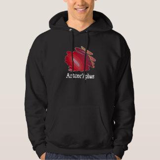 Red Art Spirals Men Dark Hoodie Sweatshirt