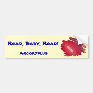 Red Art Spirals Read Baby Read Bumper Sticker