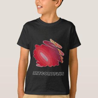 Red Art Spirals Youth Dark T- Shirt