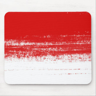 Red artistic brush stroke mouse pad