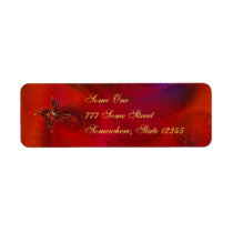 Red As the Flame Address Labels