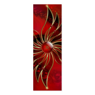 Red As the Flame Bookmarks Double-Sided Mini Business Cards (Pack Of 20)