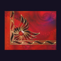 Red As the Flame Canvas Print